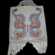 Vintage Whiting & Davis Mesh Butterfly Purse / Handbag