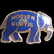 Vintage Enameled Hoover & Curtis Elephant Political Pin