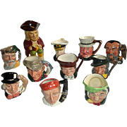 11 Vintage Toby Face Mugs by Royal Doulton Wood & Sons Grimwades & Lancaster