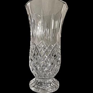 """Vintage Waterford Lismore Crystal Pedestal 10"""" Vase"""