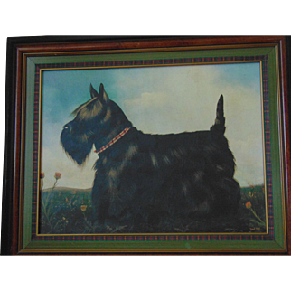 Paul Stagg Framed Scottish Terrier Dog Canvas