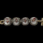 Vintage Holt Howard 1959 Santa Claus Christmas Bracelet Japan