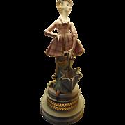 Vintage Italian Figurine Table Lamp