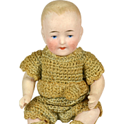 "All Bisque German Baby Boy, All Original, 4 3/4"" Tall"