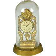 "Doll House Clock Under Dome, 1 3/4"" Tall"