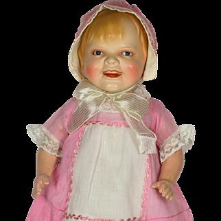 "Gladdie, Ceramic head doll, 18"" Tall"