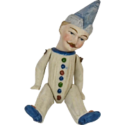 "German All Bisque Jester, 4 1/4"" Tall"