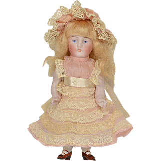 "Kestner All Bisque #130 Doll, 6"" tall"