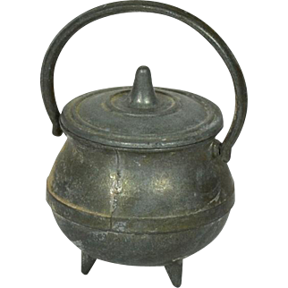"""Large Kettle for Doll House, 1 3/4"""" tall"""