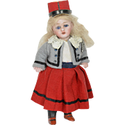 """All Bisque Girl S & H #890, 4"""" Tall"""