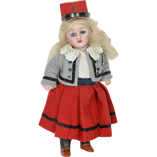 "All Bisque Girl S & H #890, 4"" Tall"