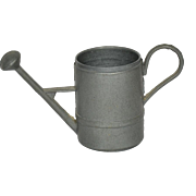 "Pewter Watering Can For Small Doll, 1 3/4"" tall"