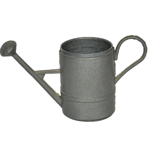"""Pewter Watering Can For Small Doll, 1 3/4"""" tall"""
