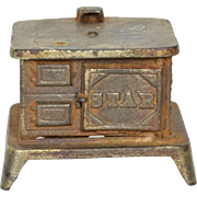 """Star"" Cast Iron Stove for Doll Kitchen"