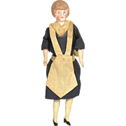 "German Doll House Doll: Maid, All Original, 5 1/4"" tall"