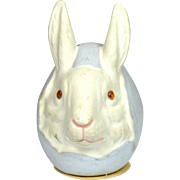 """German Easter Rabbit Candy Container, EX, 4 1/2"""" tall"""