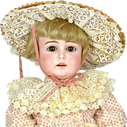 "Early Kestner Doll, Open Mouth Square Teeth, 17"" tall, 1880""s"