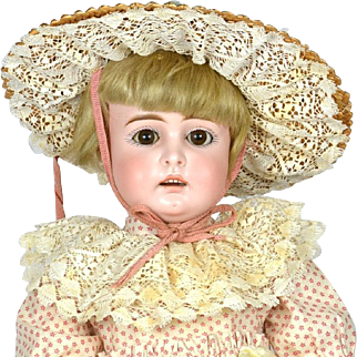"""Early Kestner Doll, Open Mouth Square Teeth, 17"""" tall, 1880""""s"""
