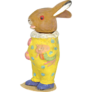 "Rabbit Clown Candy Container, German, 6"" tall"