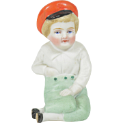 "All Bisque Immobile Boy, 3 1/4"" tall"