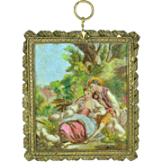 Miniature Painting on Glass, ca. 1890