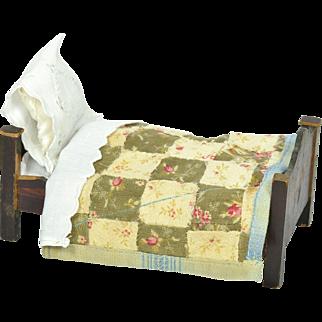 Biedermeier Doll Bed w/ Bedding