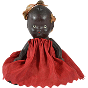 "Painted Black Bisque Baby, Japan, 4"" tall"