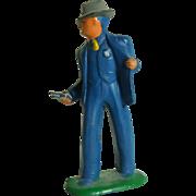 Barclay  Detective w/ Pistol, Blue Suit (B171), EX