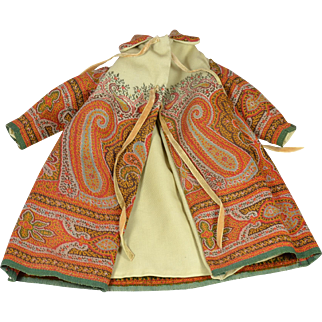 Wool Paisley Coat For French Fashion
