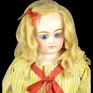 "German Bisque Shoulder Head Doll, Ex, 16"" tall, Ca. 1880"