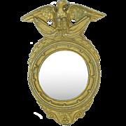 "Fancy Doll House Mirror, 3 1/4"" tall"