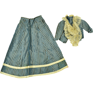 Silk and Lace French Fashion Doll Outfit, 1865-1870