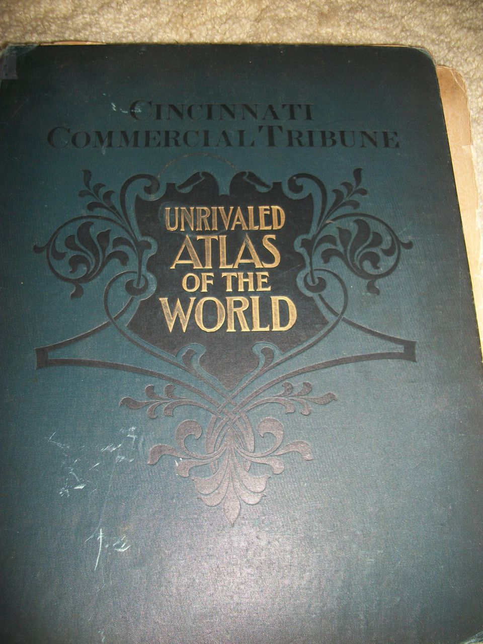 1899  Cincinnati Commercial Tribune Unrivaled Atlas of World Maps free P&I US Buyers
