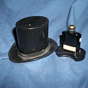 Saville London England  Deco style Rare  Gallant Perfume Top Hat Free Postage and Insurance US Buyers