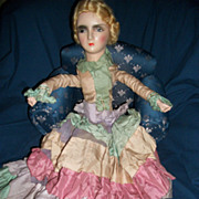 Lovely Vintage Blonde Boudoir Doll Unique Pastel dress free P&I US Buyers