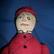 "OOAK  12"" Primitive Sock Boy Doll Free P&I US Buyers"