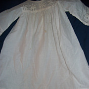 "25"" Lovely Christening Dress for your Bisque, China, Compo Doll Free P&I US BUYERS"