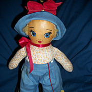 "Wonderful Early 14"" Molly Molly'es all Cloth doll Free P&I US Buyers"