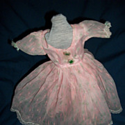 Delicate Pink Nylon & taffeta Doll Dress for Miss Revlon Horsman or Alexander tye doll Free P&I US Buyers
