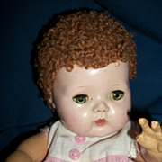 "Cute  12"" American Character Tiny Tears for Parts Free P&I US Buyers"