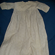 Very Old handmade High Bodice Long doll dress for bisque china doll repair needed free p&i US buyers