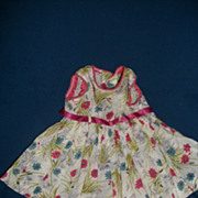 Nice Cotton Print doll Dress & Shoes for Alexander Effanbee Revlon Fashion doll free p&i US Buyers