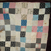 Old Wonderful Doll Quilt Great Colors Free P&I US Buyers