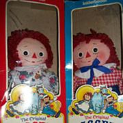 "Knickerbocker 10"" Raggedy Ann & Andy Dolls Free P&I US Buyers"
