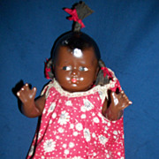 Rare Black Effanbee Tagged Grumpy Baby Doll Free P&I US BUYERS