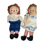 "16""Cute Georgene Raggedy Ann & Andy Dolls Free P&I US BUYERS"