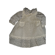 Lovely Dress w/apron for Bisque or China Doll Free &I US BUYERS