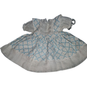 Vintage organdy & piquay Doll Dress Effanbee Alexander Horsman Free P&I US BUYERS