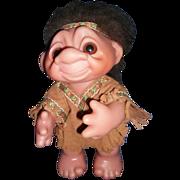 1977 Thomas Dam Indian Troll Denmark Troll Doll Free P&I US Buyers
