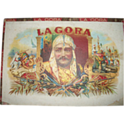 La Gora Cigar Label Art wooden Box free  P&I US BUYERS